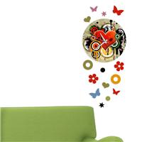 Karışık Kalp Desen Dekoratif Saat (DKF-005)