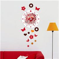 Kalp Desen Dekoratif Saat (DKF-007)
