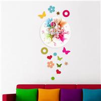 Floral Desen Dekoratif Saat (DKF-003)
