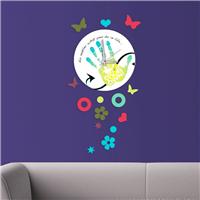 El İzi Desen Dekoratif Saat (DKF-028)
