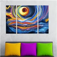 Renk Girdabı Desen Duvar Panosu