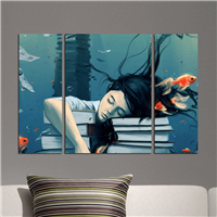 Yorgun Kız Desen Duvar Panosu