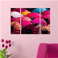 Renkli Şemsiyeler Desen Duvar Panosu