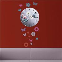 Kelebekler ve Çiçek Desen Dekoratif Saat (DKF-018)