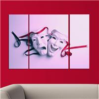 Tiyatro Maskeleri Gün Desen Duvar Panosu