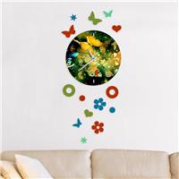 Kelebekler Desen Dekoratif Saat (DKF-013)